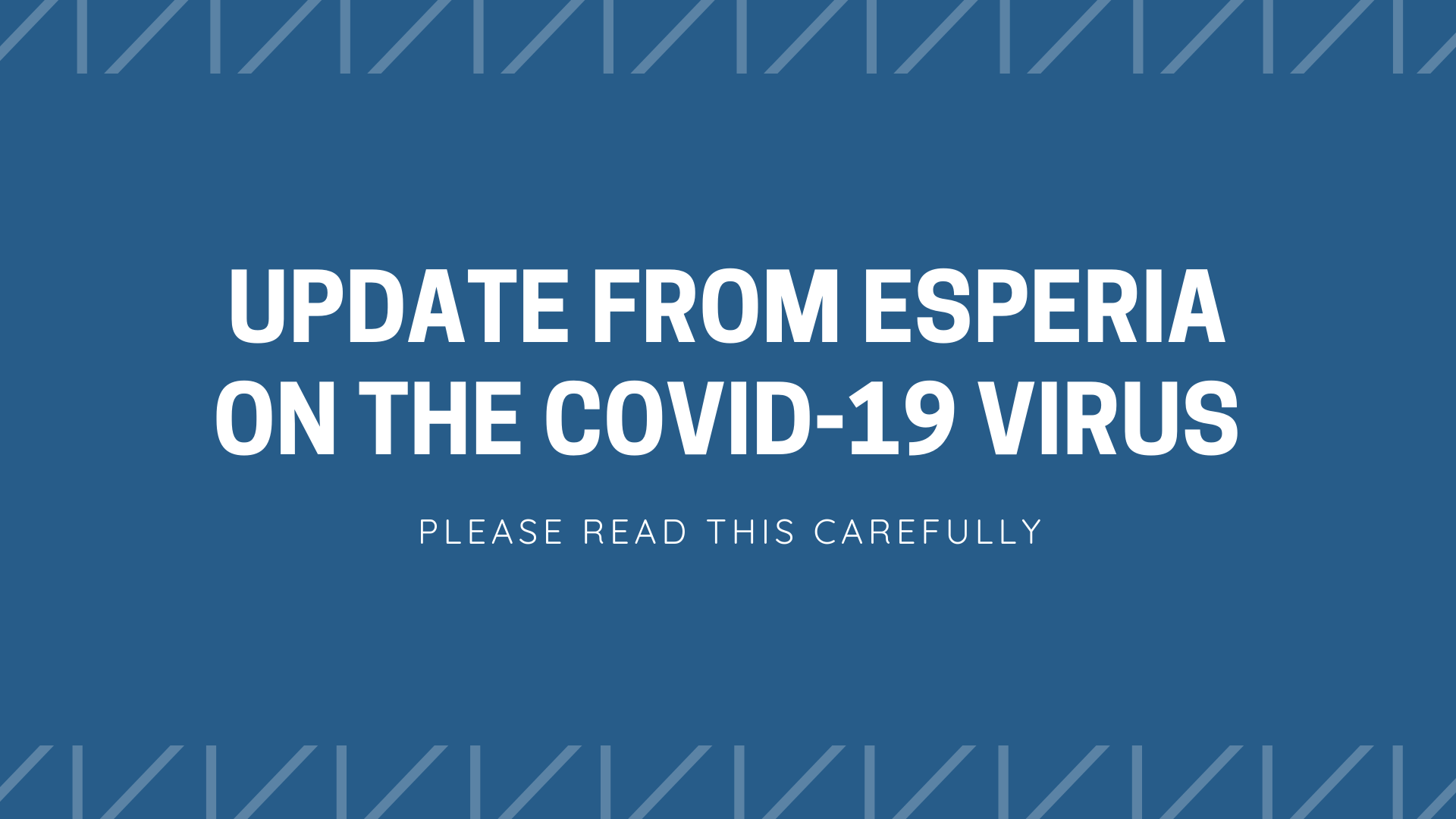 Updates on the COVID-19 virus