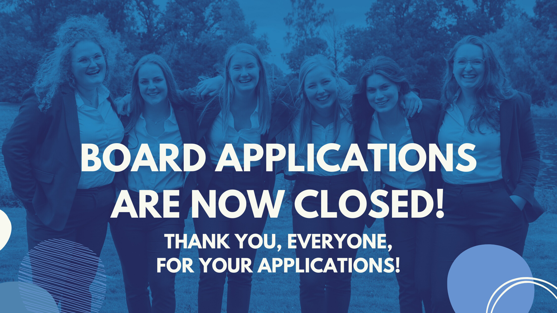 Board applications are closed!
