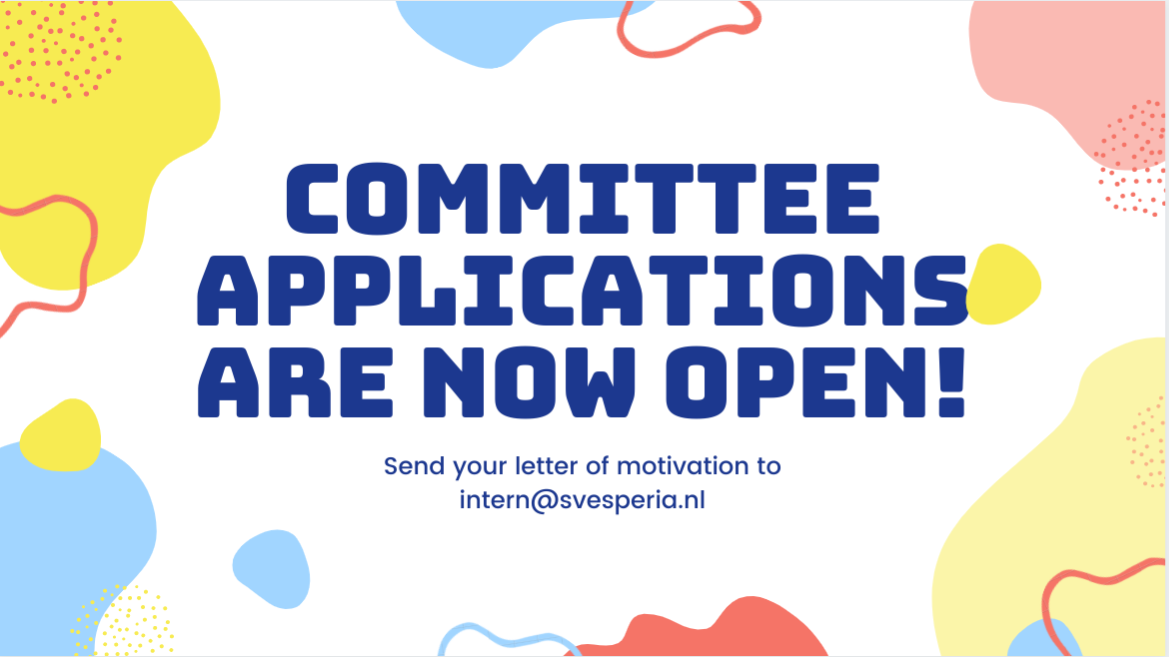 Committee Applications are open!