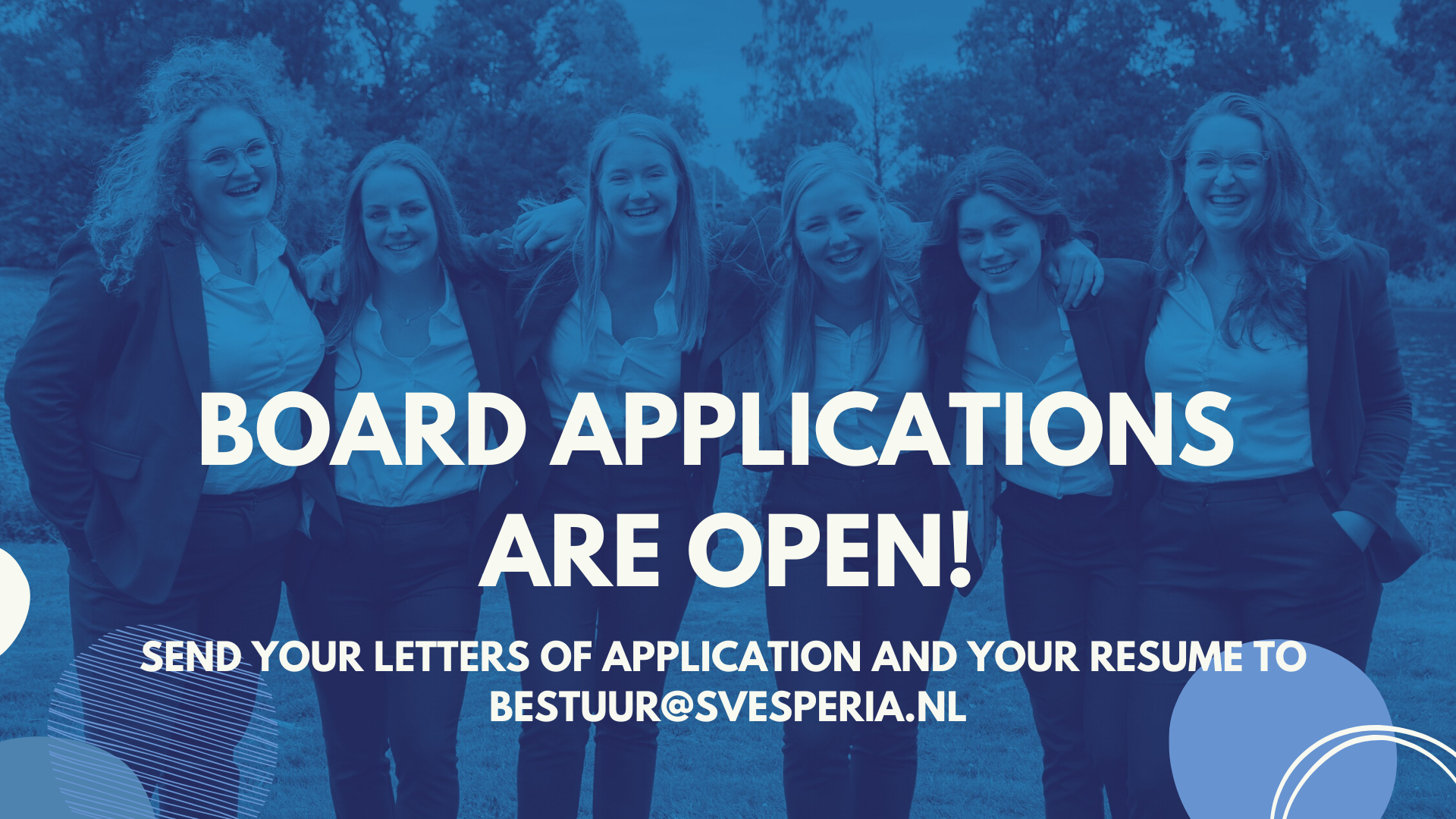 Board applications are open!