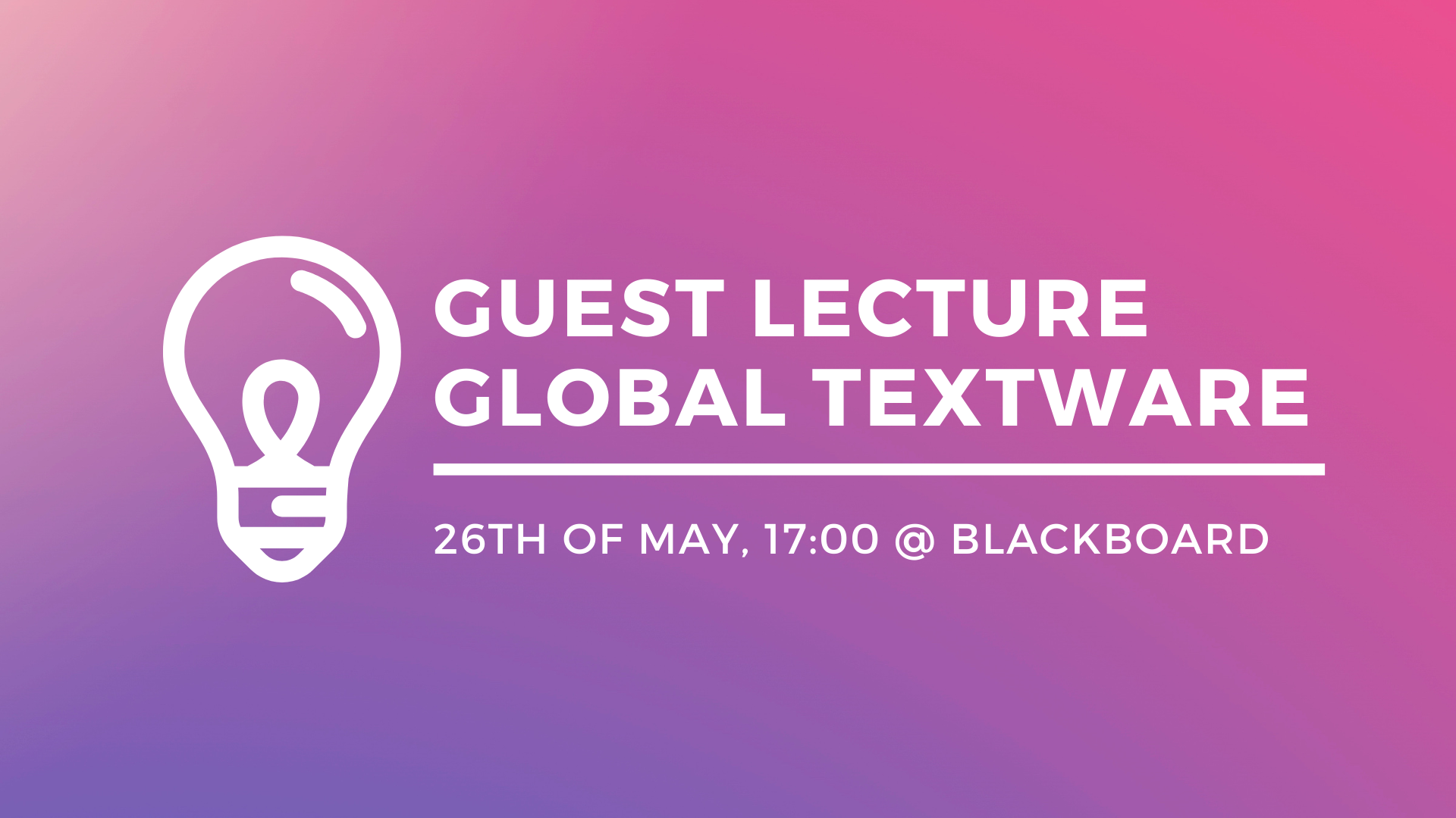 Guest Lecture: Global Textware