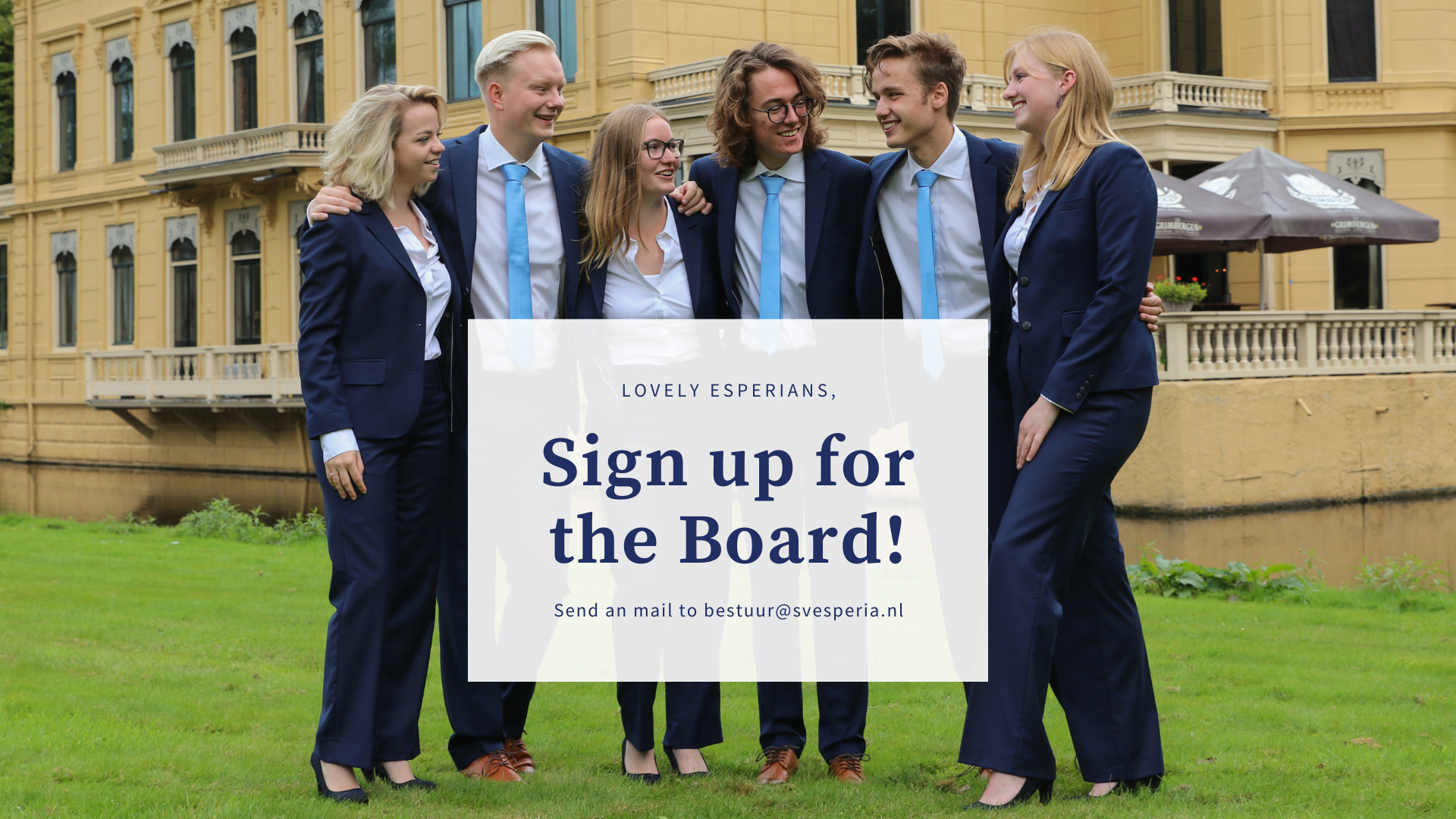 Apply for the Board!